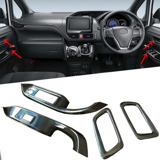 AL 適用: トヨタ ヴォクシー ノア R80 2014-2017 2018 ABS ウインドウ リフター コントロール スイッチ 装飾 アームレスト パネル カバー トリム RHD タイプ002 AL-FF-0833