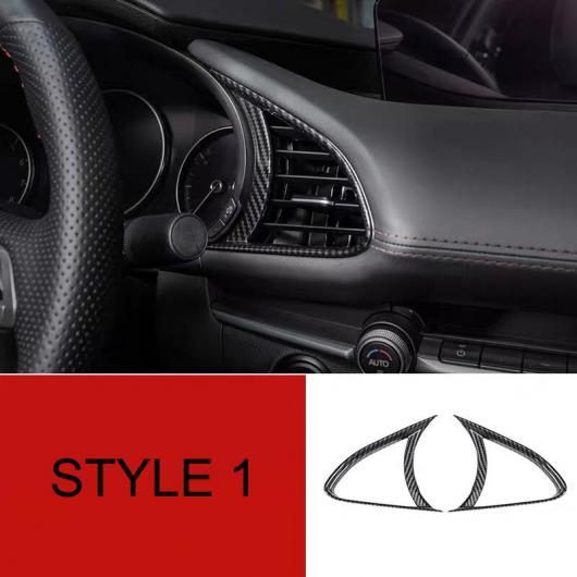 AL 適用: MAZDA3 マツダ3 アクセラ 2020 カーボンファイバー ABS フロント エアコン 吹き出し口 カバー トリム アクセサリー タイプ001 AL-FF-1998