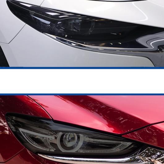 AL TPU トランスペアレント ブラック ヘッドライト フィルム 傷つき防止 ステッカー 適用: MAZDA3 マツダ3 6 CX-5 アクセラ アテンザ MAZDA6 MAZDA3 2012-2018~MAZDA6 2013-2019 AL-FF-2037