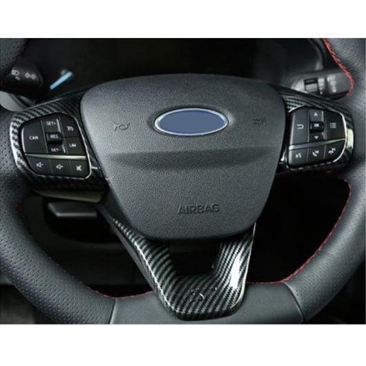 AL 適用: フォード フォーカス ST 2019 2020 2ピース ABS インテリア ステアリング ホイール カバー トリム ステッカー ブラック・レッド AL-FF-2226