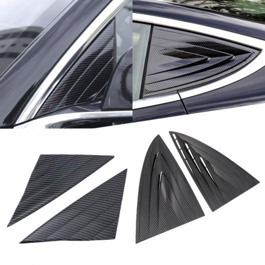 AL 適用: テスラ モデル 3 2018 2019 カーボンファイバー スタイル ABS フロント & リア ウインドウ ハンドル トライアングル ボウル カバー アクセサリー 2ピース フロント リア AL-FF-1147