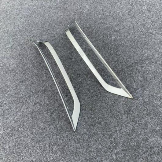 AL 適用: ホンダ オデッセイ 2018 2019 2020 2ピース ABS クローム フロント ヘッド フォグランプ ライト カバー トリム リア フォグ カバー AL-FF-1208