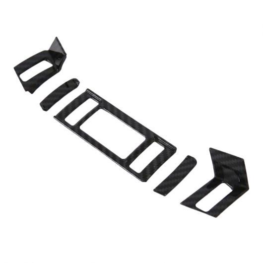 AL 適用: マツダ 6 アテンザ M6 2019 2020 カーボンファイバー スタイル コンソール エアコン ベント 吹き出し口 カバー トリム 装飾 5ピース 5ピース AL-FF-1221