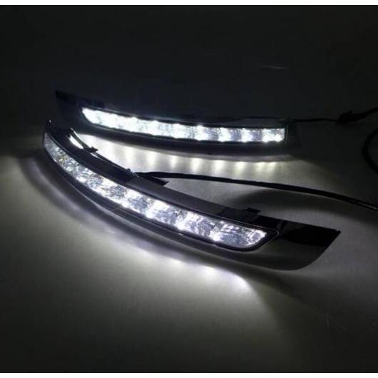 AL 2ピース LED 12V デイタイム ランニング ライト DRL 適用: ボルボ XC90 2007-2013 ABS フォグランプ カバー イエロー ターンシグナルライト タイプ001 AL-FF-1328