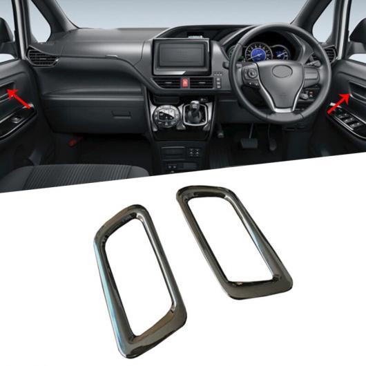 AL 4ピース 適用: トヨタ ヴォクシー ノア R80 RHD 2014-2017 2018 インテリア ドア ハンドル ベゼル ガーニッシュ トリム + ウインドウ リフター スイッチ カバー 装飾 タイプ001 AL-FF-1389