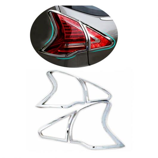 AL 適用: プジョー 3008 2013 2014 2015 ABS クローム リア テール ライト ランプ テールライト カバー トリム フレーム ステッカー 装飾 2ピース AL-FF-1183