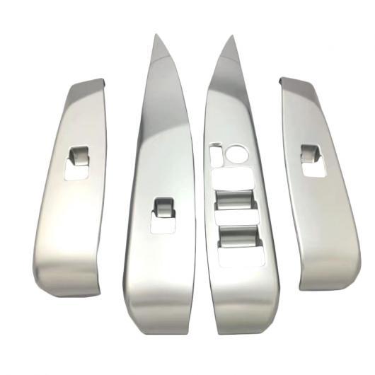 AL 4ピース/セット カーボンファイバー スタイル ウインドウ リフト ボタン スイッチ パネル カバー トリム ステッカー 適用: トヨタ カムリ XV70 2018 タイプ002 AL-FF-1435