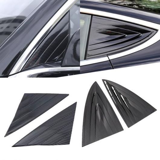 AL ABS クローム 2ピース カーボンファイバー スタイル リア ウインドウ テールゲート スポイラー トリム カバー 適用: テスラ モデル 3 2018 2019 フロント リア AL-FF-1457