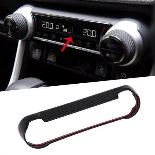 AL カーボンファイバー調 インテリア エアコン ボタン スイッチ リング カバー トリム 1ピース 適用: トヨタ RAV4 XA50 2019 コンディション スイッチ AL-FF-1523