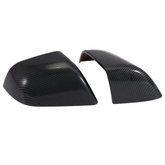 AL 1 ペア カーボンファイバー スタイル ABS クローム バックミラー ミラー 保護 カバー シェル 適用: テスラ モデル 3 タイプ002 AL-FF-1576