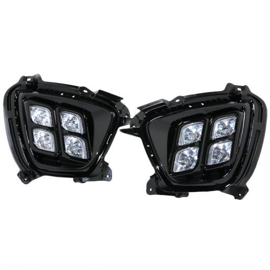AL 1SET 適用: 起亜 ソレント 2015 2016 LED DRL デイタイム ランニング ライト デイライト 防水 12V フォグランプ タイプ001 AL-FF-1585