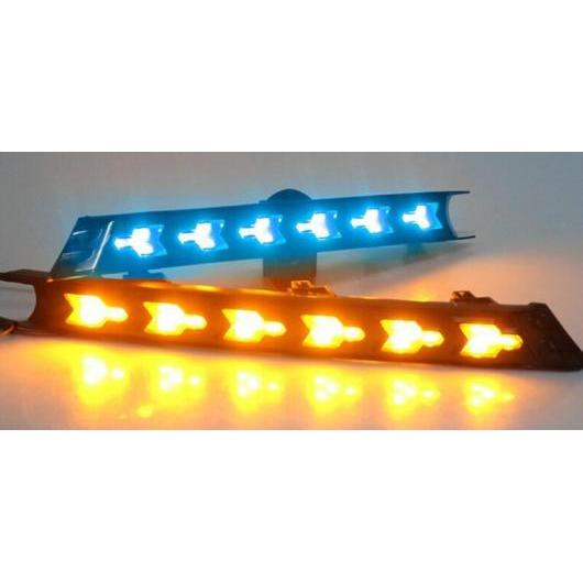 AL ターンシグナル スタイル リレー 防水 12V LED DRL デイタイム ランニング ライト フォグランプ 適用: マツダ CX-5 CX5 CX 5 2017 ホワイト イエロー ブルー AL-FF-1592