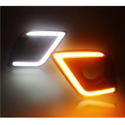 AL 12V イエロー シグナル スタイル リレー 防水 ABS ケース DRL LED デイタイム ランニング ライト 適用: トヨタ ハイラックス レボ ヴィーゴ 2015 2016 2017 AL-FF-1583