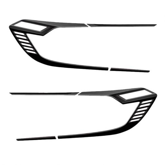 AL ABS クローム リア ライト カバー テールライト トリム ステッカー アクセサリー 適用: ホンダ アコード 10代目 2018 2019 光沢 ブラック タイプ002 AL-FF-1667