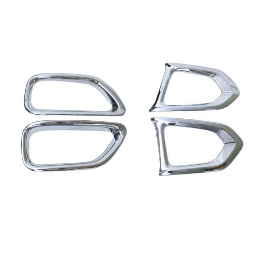 AL ABS リア フォグライト ランプ 装飾 カバー トリム フレーム ステッカー 適用: 日産 パトロール Y62 2017 2018 フロント&リア AL-FF-1698