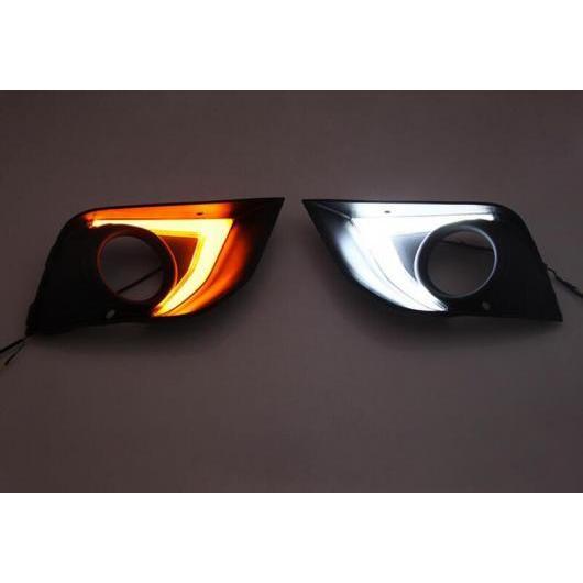 AL LED 12V デイタイム ランニング ライト DRL 適用: 三菱 ASX 2016 2017 ABS フォグランプ カバー イエロー ターンシグナルライト ホワイト イエロー AL-FF-1704