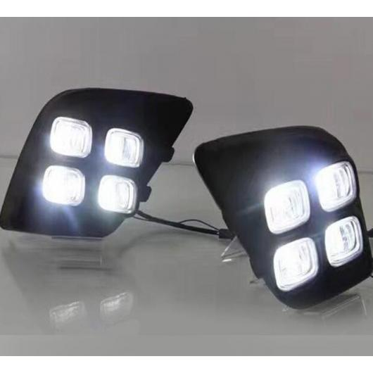 AL LED DRL デイタイム ランニング ライト デイライト フォグランプ 装飾 シグナル 適用: トヨタ ハイラックス レボ ヴィーゴ 2015 2016 タイプ001 AL-FF-1706