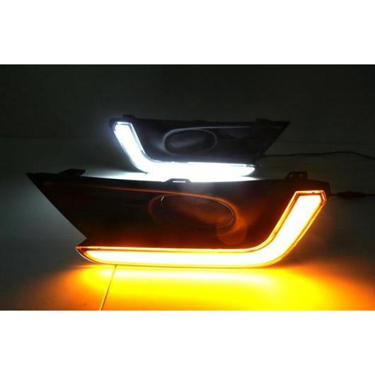 AL LED DRL デイタイム ランニング ライト フォグランプ ケース 適用: ホンダ CR-V CRV 2017 2018 ターン イエロー シグナル スタイル リレー 防水 タイプ002 AL-FF-1707