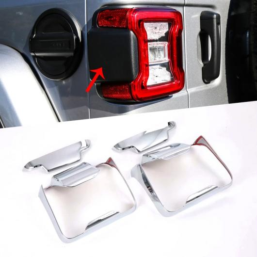 AL ABS リア テール ライト ランプ 装飾 カバー トリム ステッカー 適用: ジープ ラングラー JL 2018 アップ タイプ004・タイプ005 AL-FF-1697