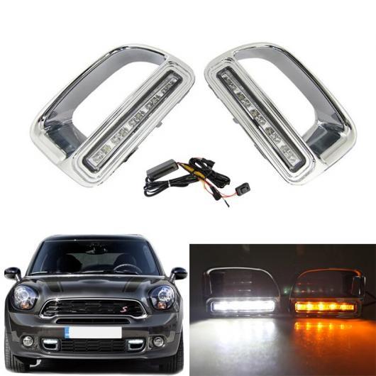 AL LED デイタイム ランニング ライト 防水 ABS 12V DRL フォグランプ 装飾 適用: BMW ミニ クーパー カントリーマン AL-FF-1717