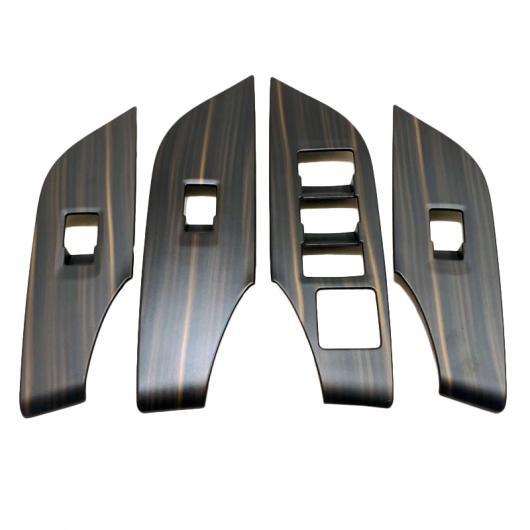 AL インテリア 木目調 ウインドウ モーター ドア ハンドル アームレスト カバー ステッカー 適用: トヨタ RAV4 RAV 4 XA50 50 2019 2020 タイプ006 AL-FF-1747