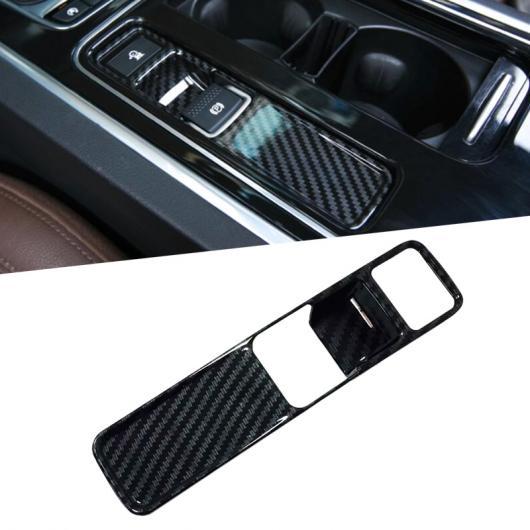 AL P ファイル ボタン エレクトロニック ハンド ブレーキ パネル 装飾 カバー トリム 適用: ジャガー Fペース F ペース R S 2016 2017 2018 カーボンファイバー スタイル AL-FF-1809