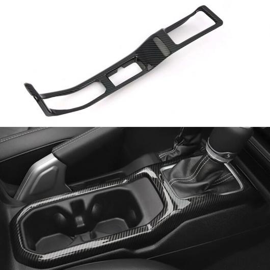AL カーボンファイバー スタイル ABS 適用: ジープ ラングラー JL 2018 2019 LHD インテリア ギア シフター パネル ハンドブレーキ カバー トリム 2ピース AL-FF-1831