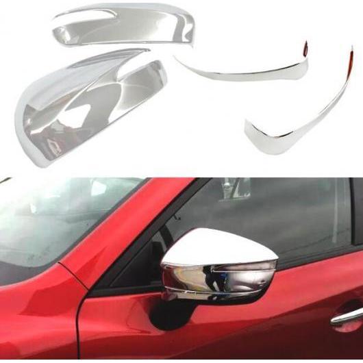 AL バックミラー ミラー トリム カバー ステッカー スパンコール エクステリア 装飾 ストリップ 適用: マツダ CX-3 CX3 2016 2017 2018 タイプ001 AL-FF-1911