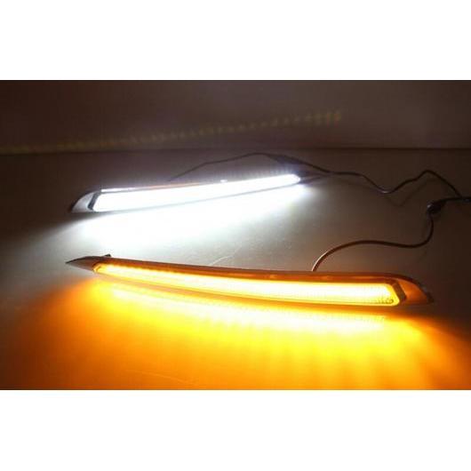 AL フォグ ヘッド ランプ 適用: プジョー 308 2016 2017 LED ドライビング DRL デイタイム ランニング ライト イエロー ターンシグナル ホワイト イエロー AL-FF-1913