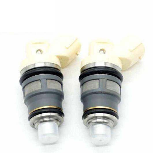 AL フューエル インジェクター ノズル 2ピースセット 適用: トヨタ スープラ アリスト マークII クレスタ チェイサー 1JZ-GTE 2JZ-GTE 1001-87090 100187090 AL-FF-3238
