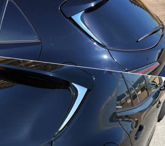 AL 適用: トヨタ カローラ 2019 2020 ハッチバック エクステリア アクセサリー ABS クローム リア ウィンドウ トリム ストライプ ステッカー カバー AL-FF-3472