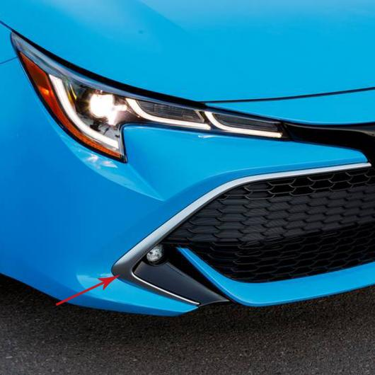 送料無料! AL 適用: トヨタ カローラ 2019 2020 ハッチバック パーツ ABS クローム フロント グリッド グリル カバー モールディング トリム エクステリア アクセサリー AL-FF-3474