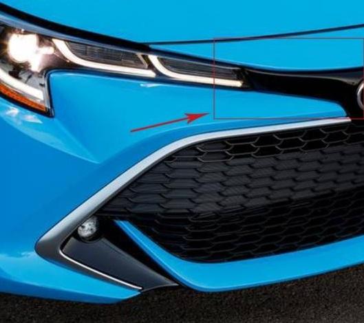 AL 適用: トヨタ カローラ 2019 2020 ハッチバック クローム フロント フード ボンネット グリル リップ モールディング カバー トリム ヘッド ライト スタイリング ベゼル プロテクター AL-FF-3483