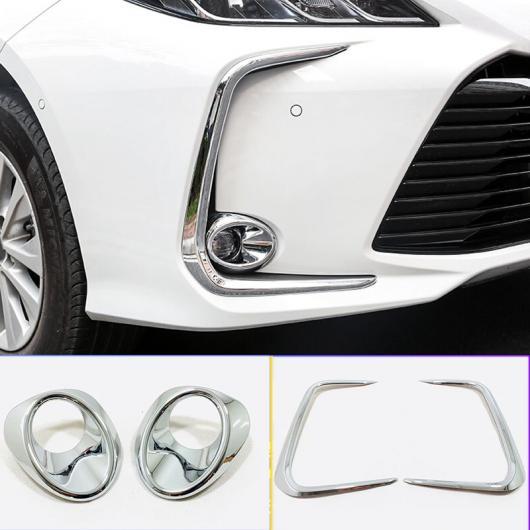 AL 適用: トヨタ カローラ E210 セダン 2019 2020 ABS クローム/カーボン ファイバー フロント フォグ ランプシェード アイブロー カバー トリム アクセサリー 2ピース カーボン ファイバー AL-FF-3524