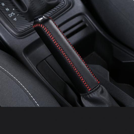 AL レザー 自動車 ギア レバー ハンドブレーキ カバー 適用: シュコダ カロック インテリア モールディング ハンドブレーキ レッド ワイヤー AL-FF-3594
