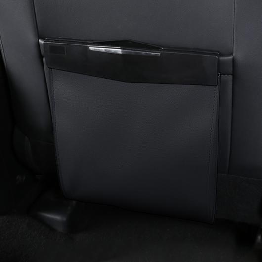 AL ファイバ レザー リア シート 磁石 ストレージ バッグ ごみ バッグ ブラック・ブラウン AL-FF-3637