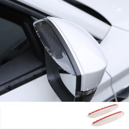 AL ABS ハーフ トランスペアレント バックミラー レイン シェード カバー トリム 適用: シュコダ コディアック インテリア モールディング タイプ 2 AL-FF-3763