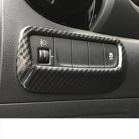 AL ABS ヘッドライト コントロール パネル トリム 適用: ヒュンダイ エンシノ コナ 2018 2019 2020 カーボンファイバー ブラック AL-FF-3922