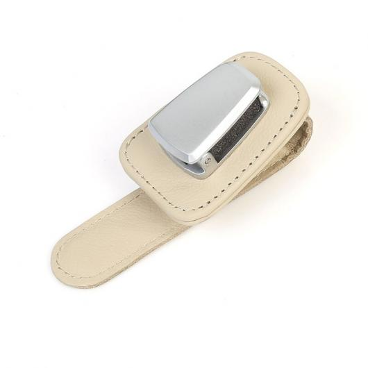 AL レザー アルミニウム 合金 インテリア 眼鏡 クリップ 適用: アウディ タイプ001 AL-FF-3940