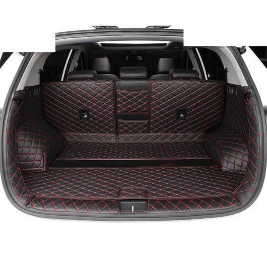 AL レザー トランク フロア マット カーゴ ライナー 適用: 起亜 KX5 スポーテージ フォルテ レッド ワイヤー 6 ピース・カーボンファイバー 6 ピース AL-FF-3783