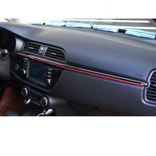AL ABS ダッシュボード ストリップ デコレーション 適用: 起亜 リオ X ライン KX クロス K2 リオ インテリア ブラック・ブラック×レッド AL-FF-3832