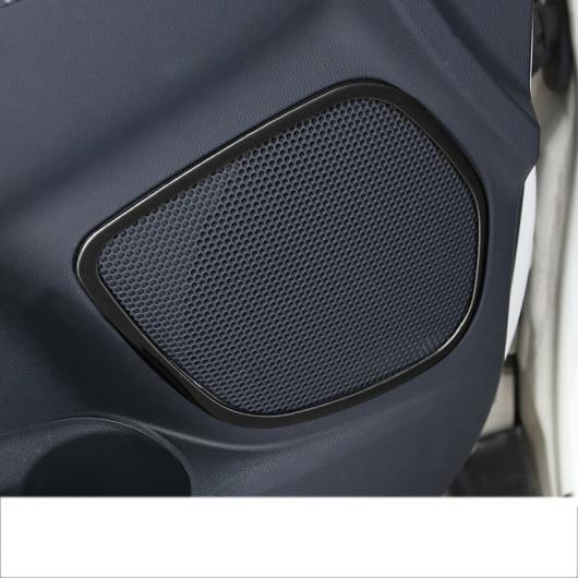 AL ドア サウンド スピーカー フレーム トリム 適用: 三菱 アウトランダー スポーツ ASX RVR 2011-2019 インテリア チタン ブラック 4 ピース AL-FF-4023