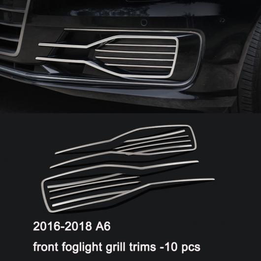 AL ステンレス スチール フロント リア フォグライト ストリップ トリム 適用: アウディ A4 A3 A6 Q3 Q5 Q7 9 AL-FF-4034