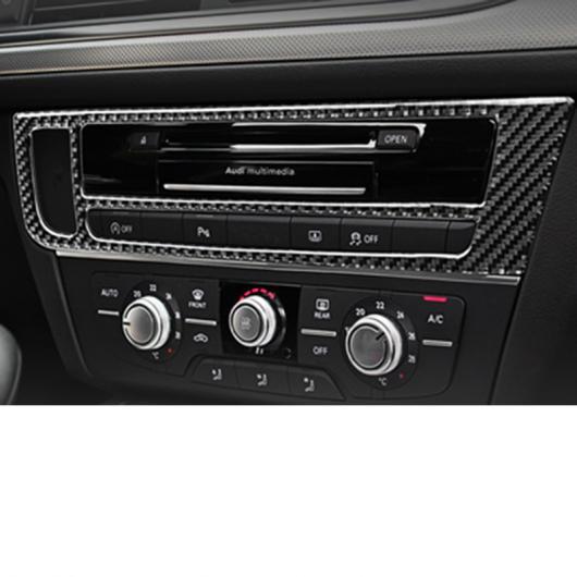 AL カーボンファイバー ABS インテリア ステアリング ホイール ロゴ パネル バックミラー カバー セントラル コントロール 12-18コントロール トリム AL-FF-4053