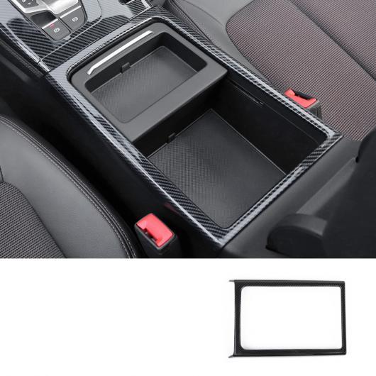 AL カーボンファイバー ABS セントラル コントロール ギア パネル エア 吹き出し口 トリム カップ パネル 適用: アウディ Q5 2018 カップ パネル AL-FF-4072