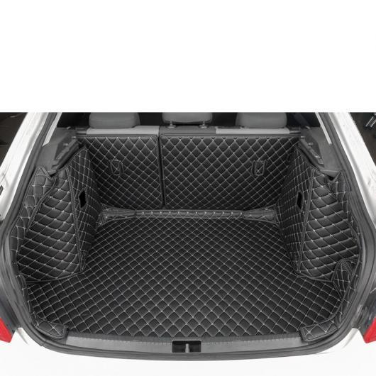 AL レザー トランク マット カーゴ ライナー 適用: シュコダ オクタヴィア A7 2015 2016 2017 2018 2019 2020 ラグ カーペット ブラック 5 ピース AL-FF-4165