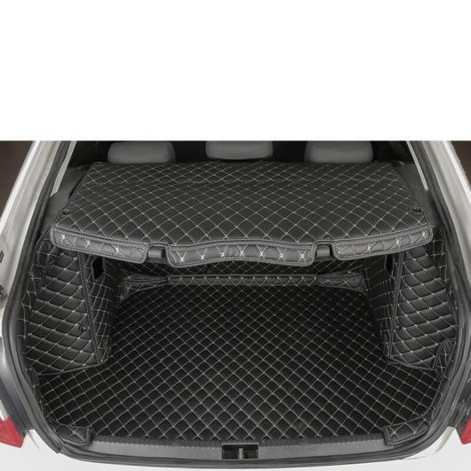 AL レザー トランク マット カーゴ ライナー 適用: シュコダ オクタヴィア A7 2015 2016 2017 2018 2019 2020 ラグ カーペット ブラック 6 ピース AL-FF-4165