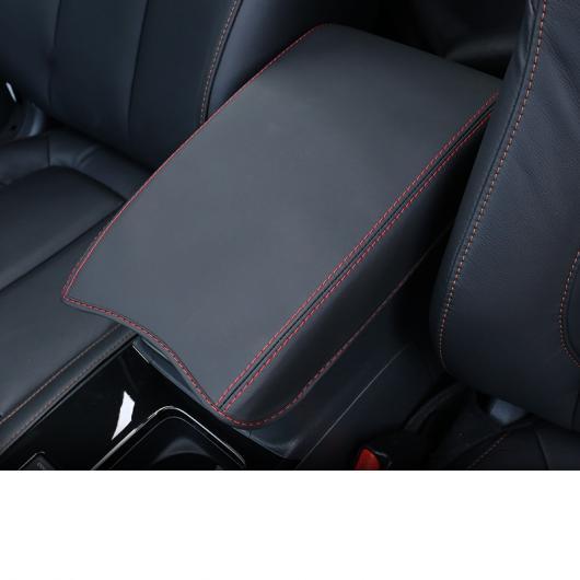 AL 適用: 三菱 エクリプス クロス セントラル コントロール アームレスト カバー マット インテリア レッド カラー~カーボンファイバー ブラック AL-FF-4115