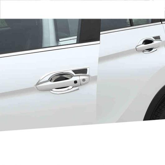 AL アウトサイド ドア ハンドル カバー 適用: 三菱 エクリプス クロス 2018 2019 カーボンファイバー ブラック 1・カーボンファイバー ブラック 2 AL-FF-4161