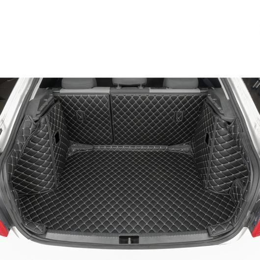 AL レザー トランク マット カーゴ ライナー 適用: シュコダ オクタヴィア A7 2015 2016 2017 2018 2019 2020 ラグ カーペット ブラック 5 ピース AL-FF-4246